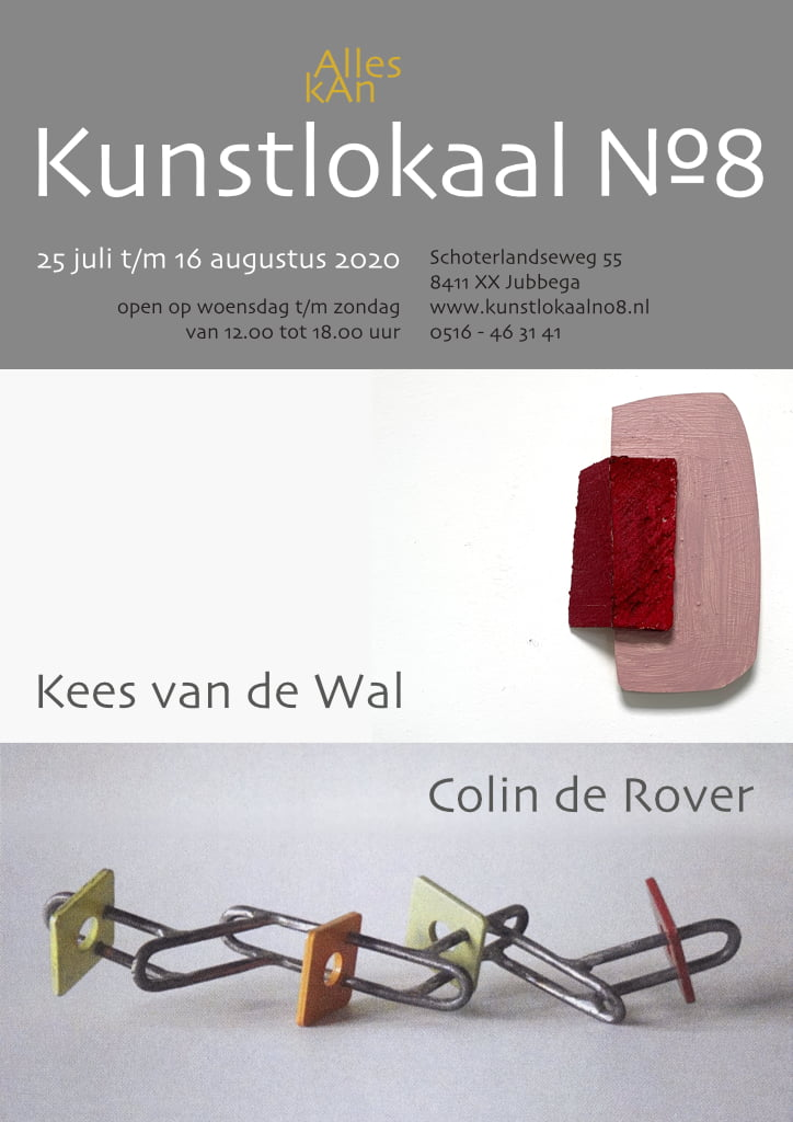 Affiche van de tentoonstelling: Kees van de Wal en Colin de Rover
